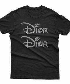 Dior X Disney Land Logo Parody T-Shirt