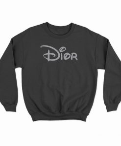 Dior X Disney Logo Parody Sweatshirt