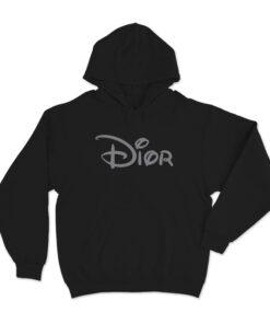 Dior X Disney Logo Parody Hoodie