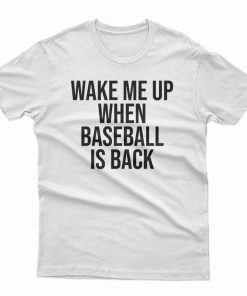 Wake Me Up When Baseball Is Back T-Shirt