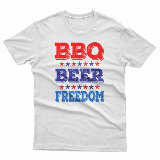 BBQ Beer Freedom America USA Party T-Shirt