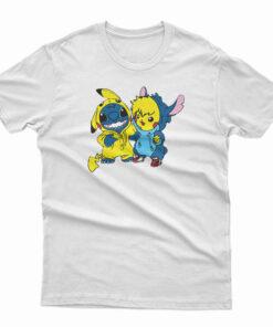 Stitch And Pikachu T-Shirt